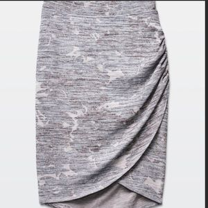 Wilfred Free Faux Wrap Grey Skirt